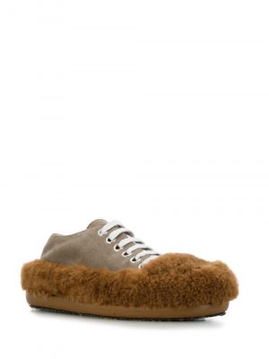 Marni SS20 ALMS003701P3208ZM003 Fluffy Shoes Brown/Grey