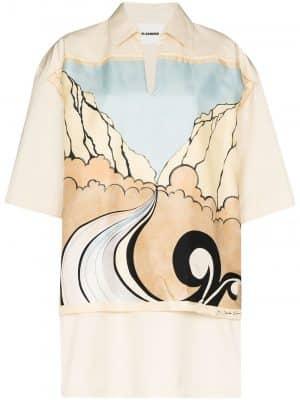 Jil Sander V-neck Shirt Cream