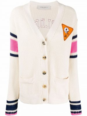 Golden Goose Cardigan Cream/Pink