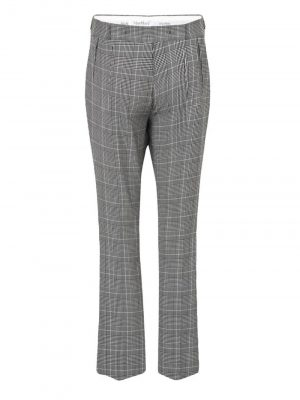 MaxMara FIBRA Checked Trousers White/Black