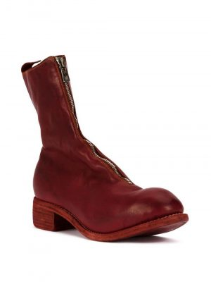 Guidi PL2 Front Zip Red Boots