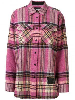 We11Done Pink check wool shirt