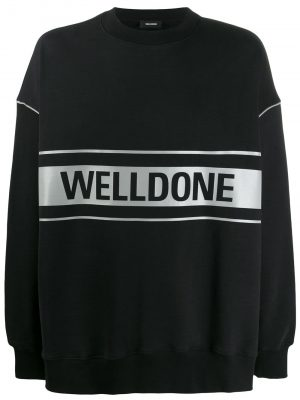 We11Done reflective logo pullover black