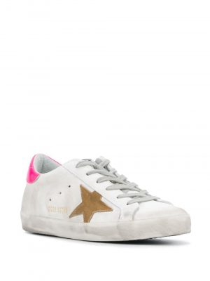 Golden Goose PS20 G36WS590 S81suede Trainer White/Pink