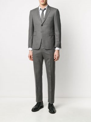 THOM BROWNE SS20 MSC001A 00626 Tie in Twill Suit Grey