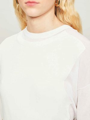 Sportmax CERES Knit Top White