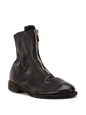 Guidi 210 Front Zip Boots Black