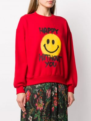 Philosophy happy without you sweatshirt red