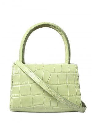 By Far CROCO Embossed Mini Bag Sage Green