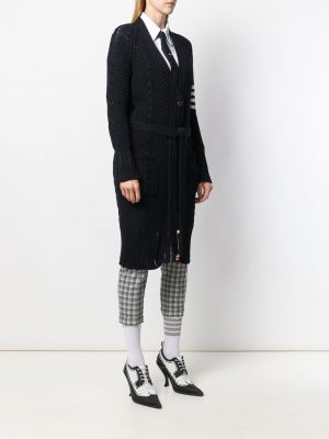 Thom Browne Long Cardigan Navy