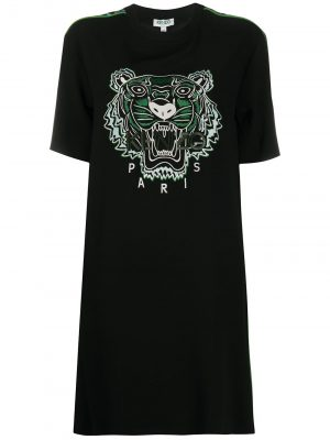 Kenzo Tiger Dress Lime Black