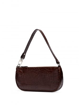 By Far RACHEL Crocodile Embossed Handbag