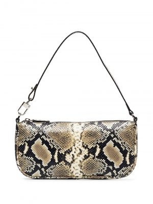 By Far RACHEL Snake Print Leather Handbag