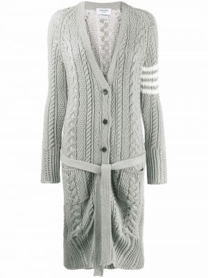 Thom Browne Cotton Cardigan Grey