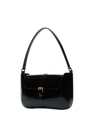 By Far MIRANDA Semi Patent Handbag Black