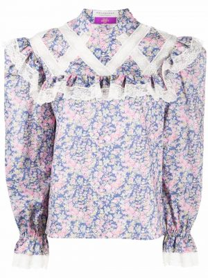 Philosophy Floral- printed Blouse
