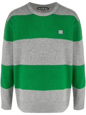 Acne studios Block stripe sweater grey/green