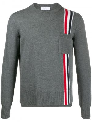 Thom Browne 20FW MKA305A-00014 crew neck wool jumper Grey