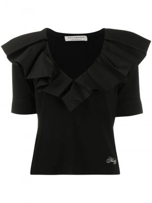 Philosophy ruffled v-neck Top