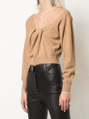 Alexander Wang draped neck cropped jumper