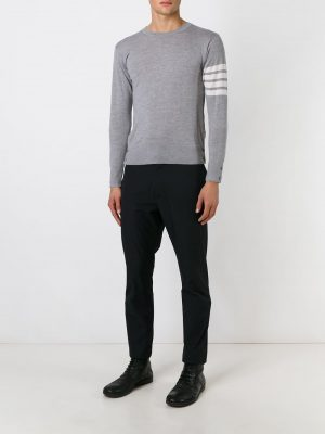 Thom Browne 21SS MKA002A 00014 038 Crewneck wool Jumper Grey