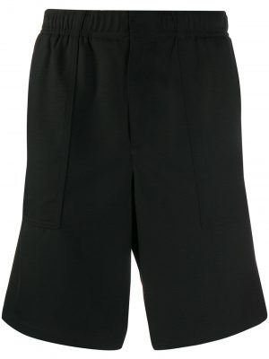 AMI Black Elasticized Waist shorts