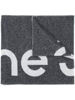 Acne studio logo-jacquard scarf