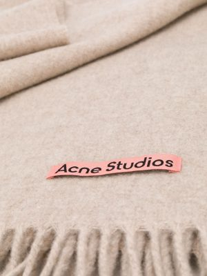 Acne studio oversized fringed scarf