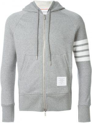 Thom Browne 4-Bar zip hoodie