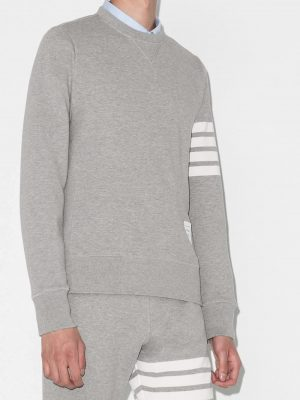 Thom Browne Unisex 20FW MJT021H 00535 068 4bars  jersey Sweatshirt Grey