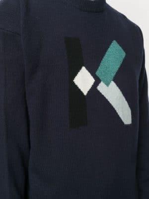 Kenzo K logo wool Jumper Navy