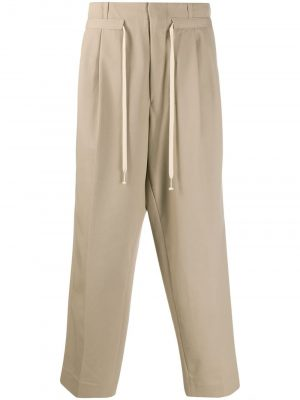 AMI drawstring tailored trousers