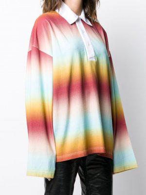 Acne studios 20FW FN WN BLOU000422 Striped polo shirt Multi