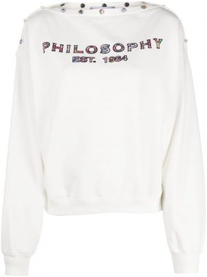 Philosophy logo Sweatshirt White