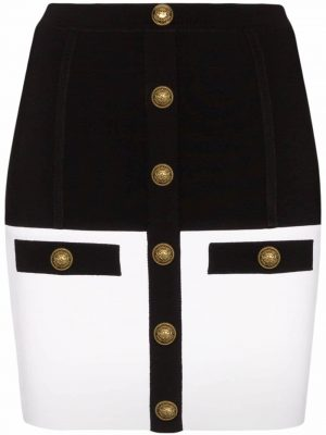 Balmain two-tone mini skirt
