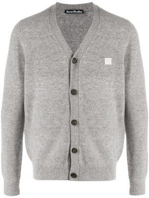 Acne studios V-neck wool cardigan grey