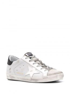 Golden Goose White Sneakers Black Tail