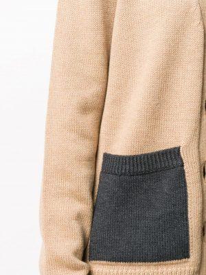 GANNI contrast pocket cardigan