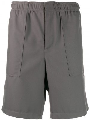 AMI Dark Grey Elasticized Waist shorts