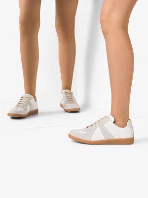 Maison Margiela White Replica calfskin sneakers