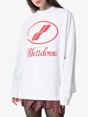 We11Done logo print sweatshirt