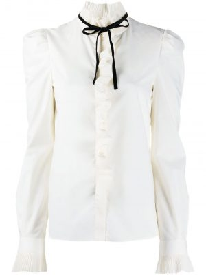 Philosophy ruffle-trim shirt