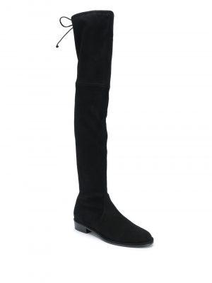 STUART WEITZMAN 20FW S2167 LOWLAND suede stretch boots Black