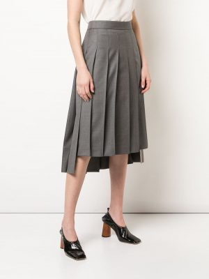 Thom Browne 20FW FGC400A 00626 035 Pleated long Skirt Grey