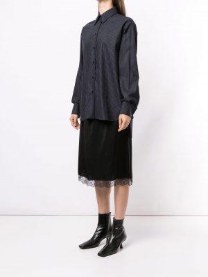MM6 wool pinstripe shirt