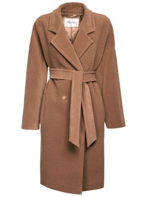 Maxmara BAIOCCO Camel and wool coat Camel