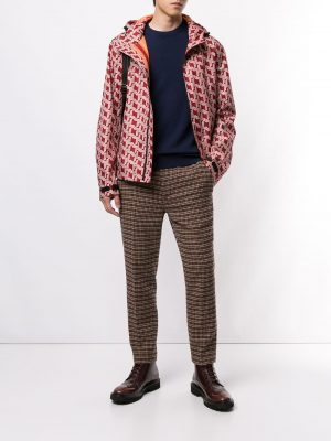 BALLY patterned hooded jacket
