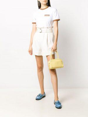Ganni Pinstripe Shorts