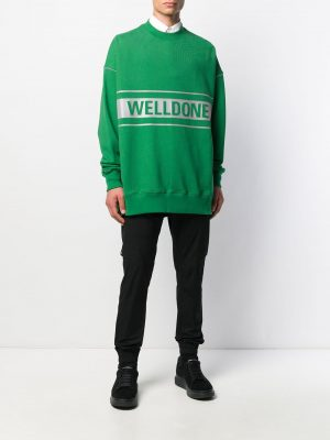 We11Done printed logo sweatshirt