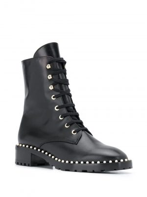 STUART WEITZMAN 20FW S4988 ALLIE Boots with Pearl Black